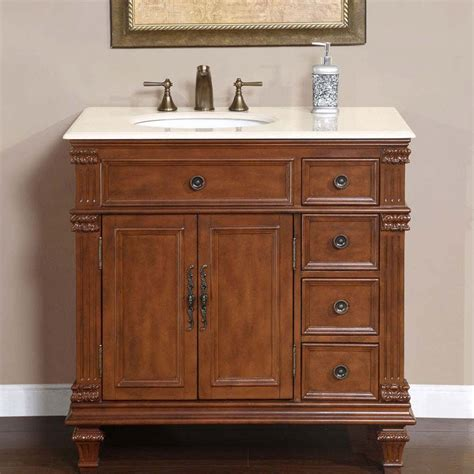 36 quot perfecta pa 132 single sink cabinet bathroom vanity cherry finish marble hyp 0210 cm
