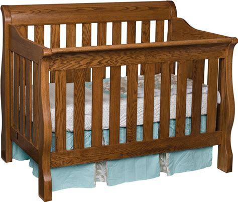 hardwood baby cribs traditional sleigh crib ohio hardwood furniture