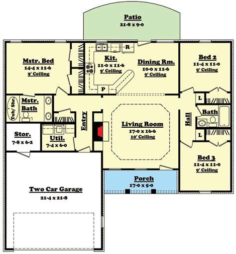 split bedroom house plans split bedroom ranch home plan 11700hz 1st floor master