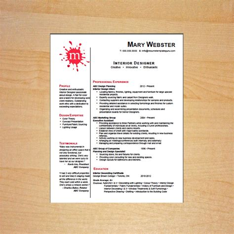 interior design resume templates interior designer resume template career goods