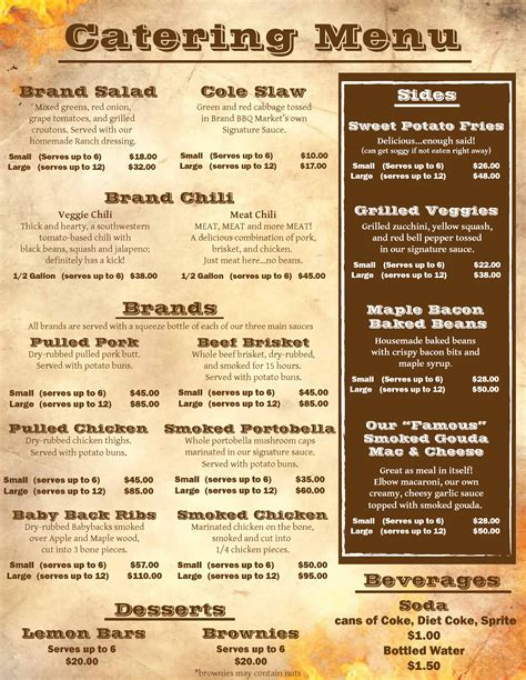 brand bbq food truck catering menu page 2 of 2 chicago