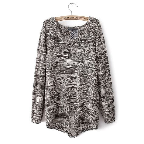 grey knit cardigan womens aliexpress buy autumn womens pullover fashion knit