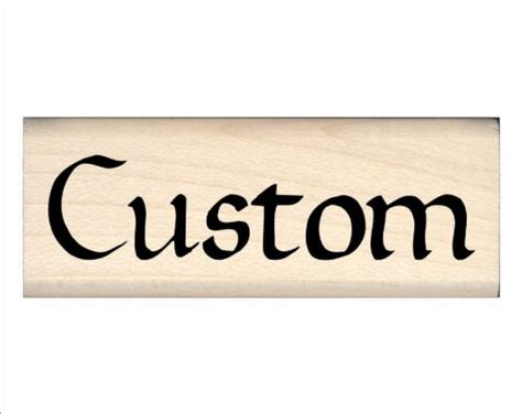 Custom Made Personalized Children S Name Rubber St