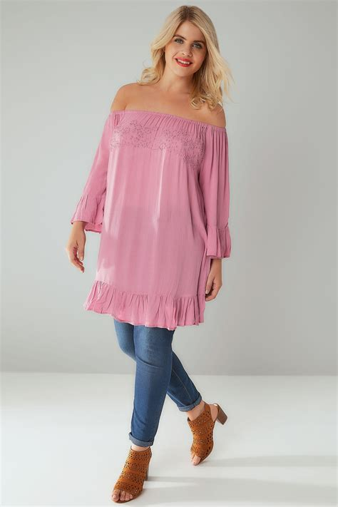 pink beaded top dusky pink beaded top with flute sleeves plus size