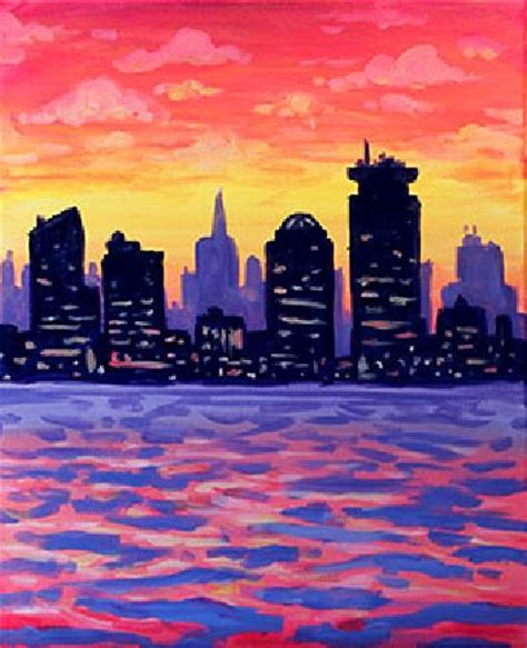Paint Nite Boston Sunset More Than A Buzz