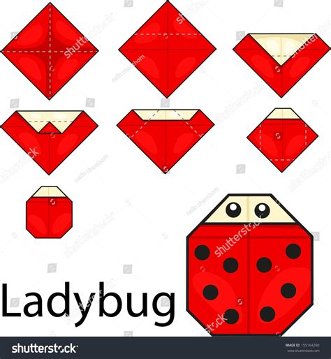 origami ladybug easy origami ladybug comot
