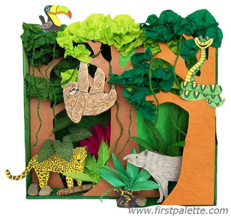 rainforest craft ideas for rainforest habitat diorama craft crafts