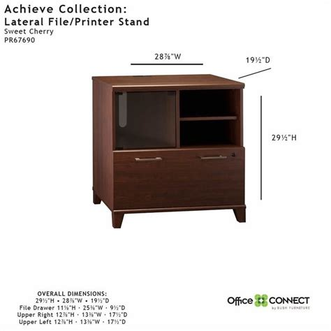 1 drawer lateral file cabinet bush achieve 1 drawer lateral file cabinet in sweet cherry