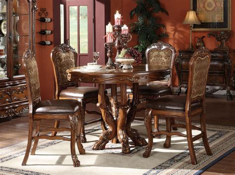 acme dining table acme dresden 5 pc counter height dining table set in