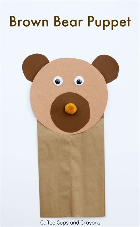 brown paper bag crafts for preschoolers brown puppet craft crafts pre school and crayons
