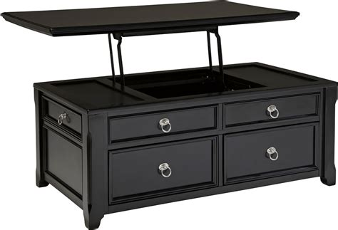 Coffee Table. Black Coffee Tables: Affordable Black Storage Coffee Table black lift top coffee