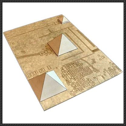 paper craft square new paper model giza necropolis pyramid free paper model