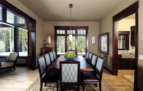 Good Paint Colors For Bedrooms light walls dark trim dining room traditional with pendant
