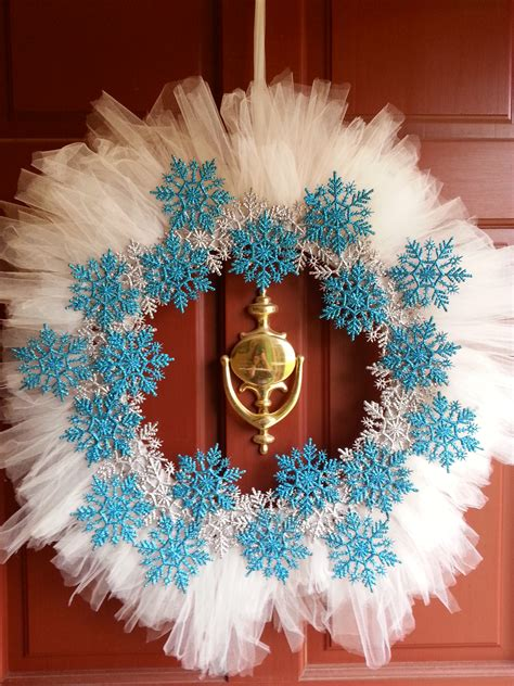 tulle craft projects 12 days of crafts one hour tulle snowflake wreath