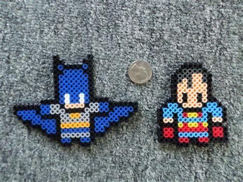 perle bead black fingers batman superman perler
