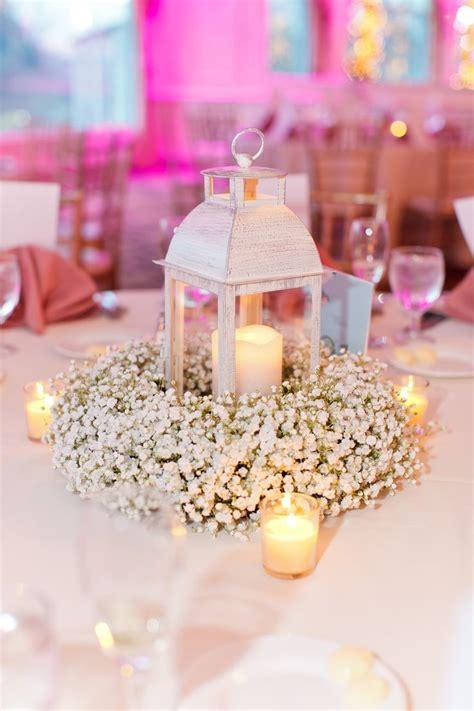 wreath centerpiece ideas baby s breath wreath centerpiece with lantern and candles