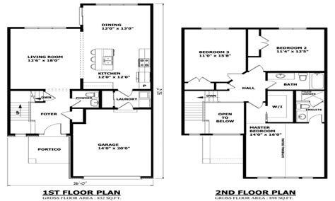 two story house floor plan simple two story house modern two story house plans
