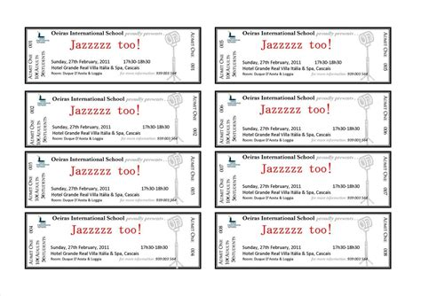 event ticket template free it resume cover letter sample