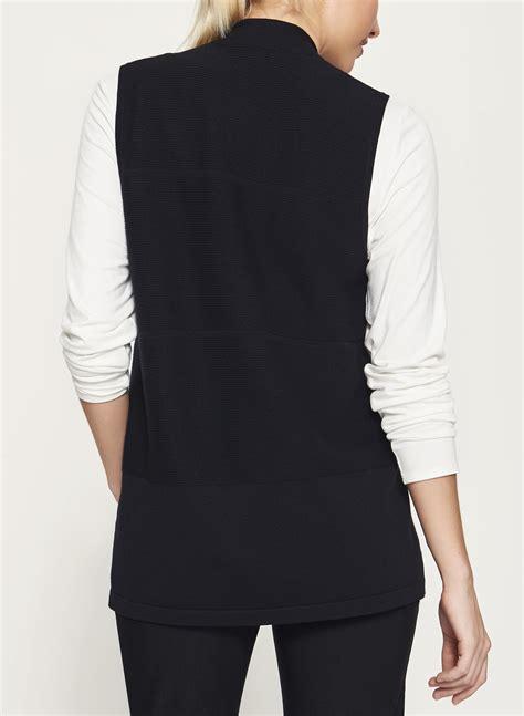 jersey knit cardigan sleeveless jersey knit cardigan