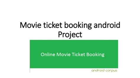 picture ticket booking ticket booking android project for year ppt