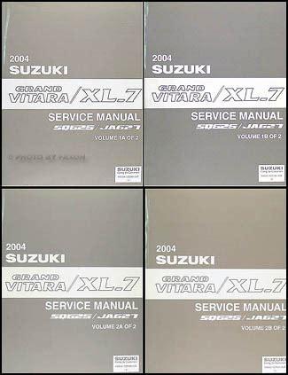 service manual 2003 suzuki xl 7 service manual free 2001 2002 2003 2004 2005 2006 suzuki 2004 suzuki grand vitara xl 7 repair shop manual 4 volume set original
