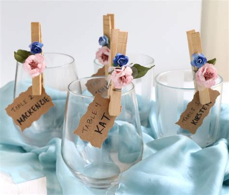 how to make place cards for wedding flower petal clothespin place cards weddings