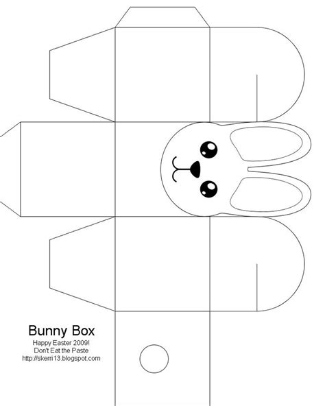 printable paper crafts templates easter box easter bunny easter crafts for free
