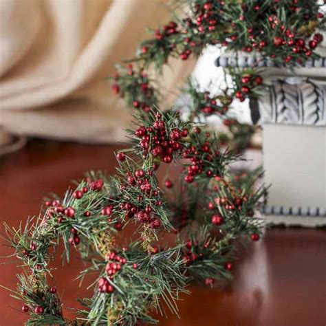 artificial pine roping artificial berry and pine roping garlands
