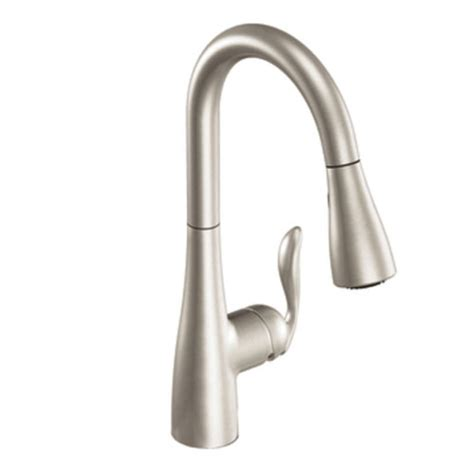 single handle pull kitchen faucet moen 7594srs arbor single handle pull kitchen