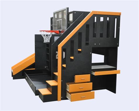 basketball themed bunk beds the ultimate basketball bunk bed backboard slide and more