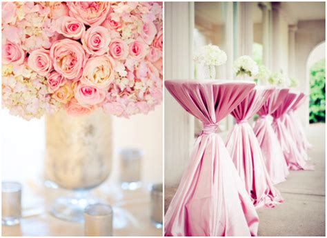 pink decorations a pink theme wedding for your special day