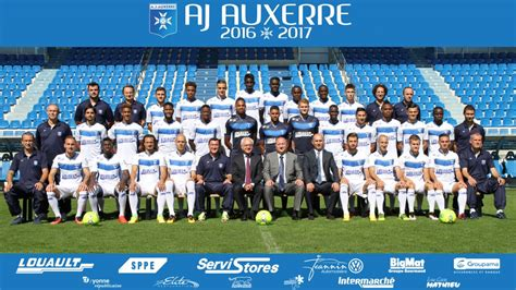 photo officielle aj auxerre 2016 2017 aja l association de la jeunesse auxerroise