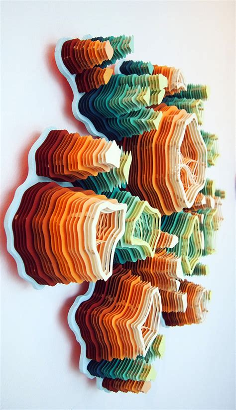 paper craft artists layered cut paper sculptures inspired by nature