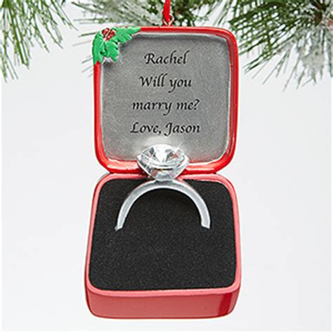 engagement ring ornaments personalized engagment ornament engagement ring