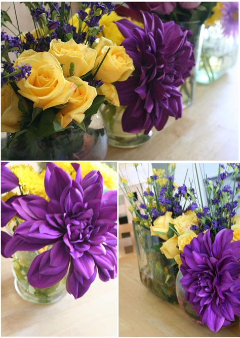 purple and yellow wedding centerpieces birthday themes archives thoughtfully simple