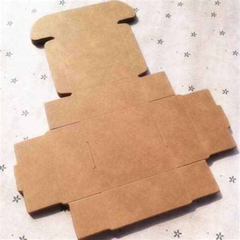 craft paper gift boxes 3 3 2cm brown kraft craft paper jewelry pack boxes small