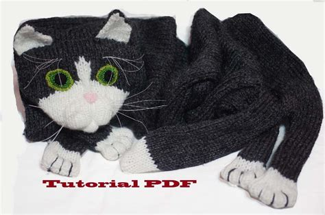 knitted cat scarf pattern cat scarf pattern pdf file knitting a cat scarf pattern