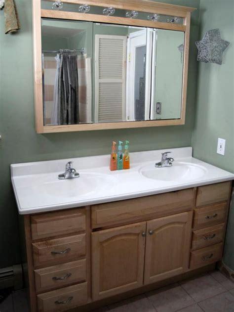 installing bathroom vanity top installing a bathroom vanity hgtv