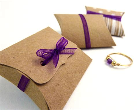 how to make jewelry gift boxes mini pillow boxes 20 diy kraft favor boxes 2 x