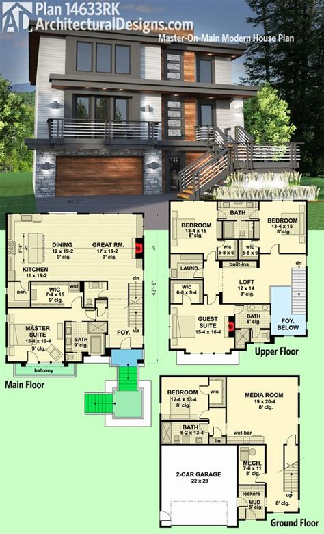 architectural design floor plans architectural designs modern house plan 14633rk gives you