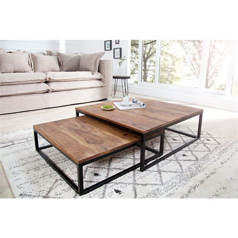 Tafel Ikea Fusion by Salontafel New Fusion 2 Delig Set Sheesham Online