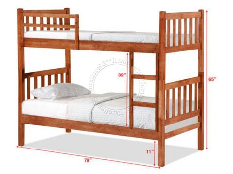 Double Deck Bunk Bed DD1061Wh