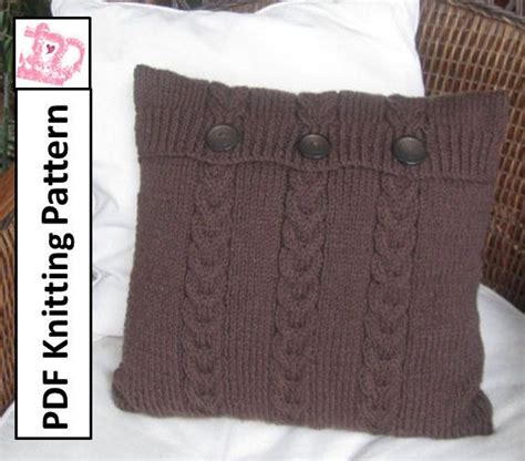 knitting pattern for cushion with buttons pdf knitting pattern cable knit pillow cover pattern 16