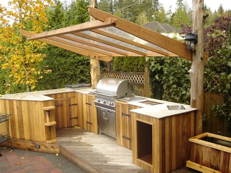 outdoor kitchen roof ideas outdoor kitchen ideas patio traditional with bbq cedar