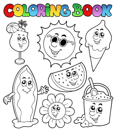 picture of coloring book coloring book vector set 01 vector other free