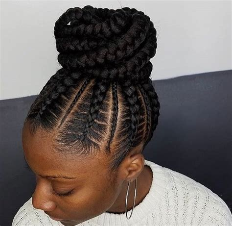 how to apply to braids flawless braided bun by narahairbraiding black hair