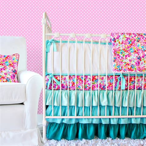 blue baby cribs pink and blue crib bedding for caden