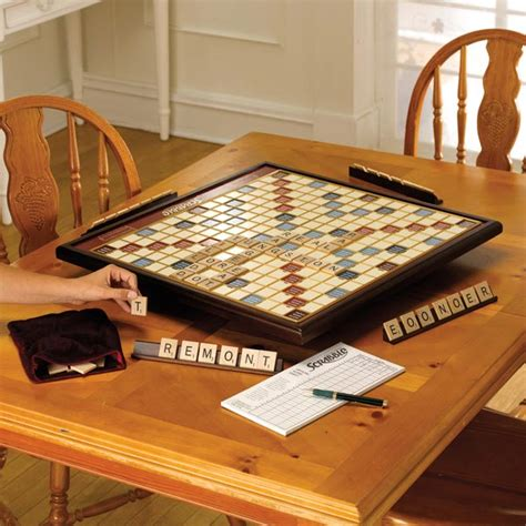 spinning scrabble board scrabble deluxe with rotating board at signals hn2372