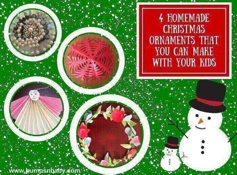 easy home made ornaments 4 easy ornaments diy