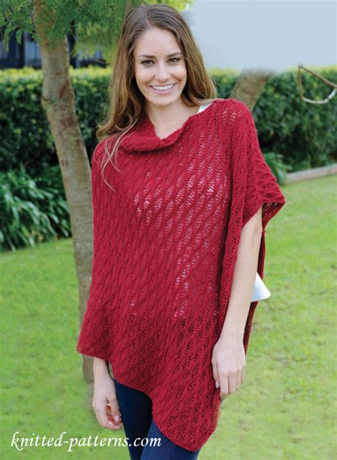 free knit poncho patterns asymmetric poncho knitting pattern free